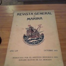 Coleccionismo de Revistas y Periódicos: REVISTA GENERAL DE MARINA.AÑO LIV.1931.OCTUBRE.. Lote 294120288