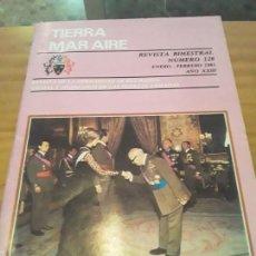 Coleccionismo de Revistas y Periódicos: REVISTA TIERRA, MAR AIRE.BIMESTRAL.NUM.128.ENERO-FEBRERO 1981.AÑI XXIII.. Lote 294172073