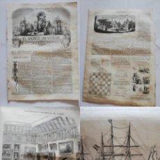 Coleccionismo de Revistas y Periódicos: EL MUSEO UNIVERSAL: 1867 AÑO XI, Nº20. GRABADOS: BARCOS ESPAÑOLES, EXPOSICIÓN UNIVERSAL EDIFICIOS. Lote 294835173