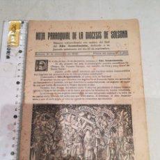 Coleccionismo de Revistas y Periódicos: HOJA PARROQUIAL DE LA DIOCESIS DE SOLSONA. Lote 295284228