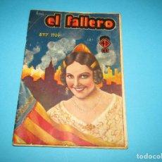 Collezionismo di Riviste e Giornali: ANTIGUA REVISTA DE FALLAS *EL FALLERO * ANY 1934 CON PORTADA DE REDÓ. Lote 295485403