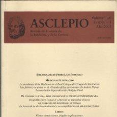 Coleccionismo de Revistas y Periódicos: REVISTA ASCLEPIO.REVISTA DE HISTORIA DE LA MEDICINA Y DE LA CIENCIA. VOL.LV. FASC.1. 2003.. Lote 295514943