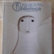 Coleccionismo de Revistas y Periódicos: REVISTA EDUCACIÓN Y BIBLIOTECA Nº 173 - PLIEGO, PAPEL Y TIJERAS. Lote 295526758