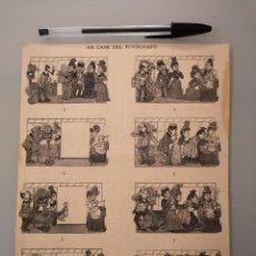 Collezionismo di Riviste e Giornali: HOJA GRABADO REVISTA ORIGINAL SIGLO XIX. EN CASA DEL FOTOGRAFO. Lote 295684193