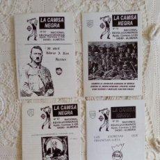 Coleccionismo de Revistas y Periódicos: LOTE FANZINE CAMISA NEGRA NUESTRA EUROPA HOJA CAMPAÑA OCTAVILLA NAZI FASCISTA SKIN HITLER POLÍTICA. Lote 295815183