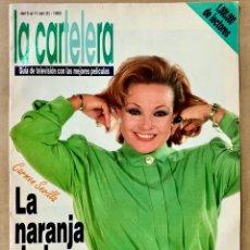 Coleccionismo de Revistas y Periódicos: REVISTA CARTELERA 1993 PORTADA CARMEN SEVILLA GUIA TELEVISION LA NARANJA DE LA TELE TV GARY COOPER. Lote 295823858