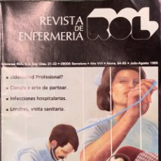 Coleccionismo de Revistas y Periódicos: REVISTA DE ENFERMERÍA ROL. Nº 84 - 85. JULIO 1985.. Lote 296080153