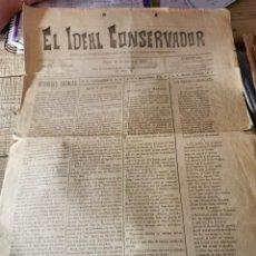 Coleccionismo de Revistas y Periódicos: UBEDA, JAEN, 1900, PERIODICO EL IDEAL CONSERVADOR Nº113. 19 DE ENERO, 4 PAGINAS. Lote 296600768