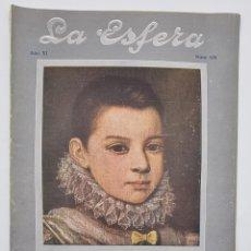 Coleccionismo de Revistas y Periódicos: REVISTA LA ESFERA. NUM, 525. MADRID, 26 ENERO 1924.. Lote 297175588