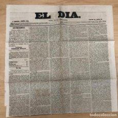 Coleccionismo de Revistas y Periódicos: GACETA POLITICA INDEPENDIENTE EL DIA. Nº 361. ENERO 1860. Lote 297176108