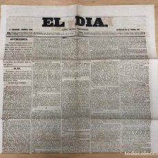 Coleccionismo de Revistas y Periódicos: GACETA POLITICA INDEPENDIENTE EL DIA. Nº 360. ENERO 1860. Lote 297176243