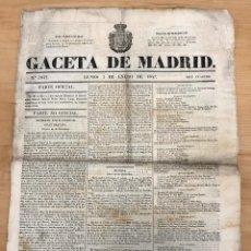 Coleccionismo de Revistas y Periódicos: GACETA DE MADRID. Nº 2642. 3 DE ENERO DE 1842. Lote 297176678