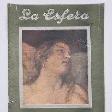 Coleccionismo de Revistas y Periódicos: REVISTA LA ESFERA. NUM, 531. DANAE, FRAGMENTO DEL CUADRO ORIGINAL DE TIZIANO. MADRID, 8 MARZO 1924.. Lote 297177308