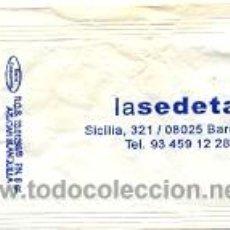 Sobres de azúcar de colección: 25-653. LASEDETA. BARCELONA.. Lote 3414714