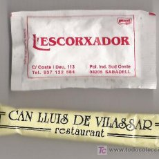 Sobres de azúcar de colección: SOBRES AZUCAR LLENOS CATALUNYA. Lote 3932454