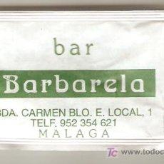 Sobres de azúcar de colección: BAR BARBARELA. Lote 6205212