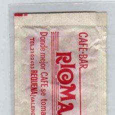 Sobres de azúcar de colección: SOBRE DE AZÚCAR VACÍO CAFE BAR RIOMA. Lote 9769938
