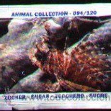 Sobres de azúcar de colección: SOBRE DE AZUCAR CON IMAGEN DE ANIMAL