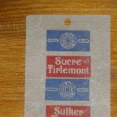 Sobres de azúcar de colección: EMBOLTORIO DE AZUCAR SUCRE TIRLEMONT. BELGICA 1951.. Lote 22589802