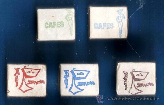 TERRON AZUCAR - LOTE DE 5 - CAFES BRASILIA - REUS - SIN ESTRENAR - AÑOS 50/60 -LN-136 (Coleccionismos - Sobres de Azúcar)