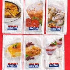 Sobres de azúcar de colección: SEIS SOBRES DE AZUCAR DE SIDUL. Lote 27650502