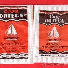 Sobres de azúcar de colección: DOS SOBRE DE AZUCAR CAFÉ ORTEGA LAS PALMAS . Lote 27656030