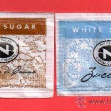 Sobres de azúcar de colección: DOS SOBRE DE AZUCAR BROWN SICAR ZACCHERO ITALIA. Lote 27705328