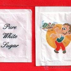 Sobres de azúcar de colección: DOS SOBRE DE AZUCAR FRAST Y PURE WHITE SUGAR . Lote 27705360