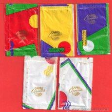 Sobres de azúcar de colección: CINCO SOBRES DE AZUCAR DE CAFES CORNELLÁ. Lote 27846452