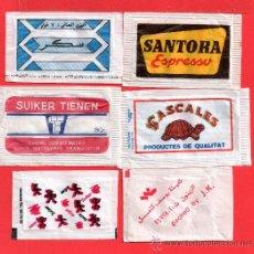 Sobres de azúcar de colección: SEIS SOBRES DE AZUCAR VARIOS. Lote 27852225