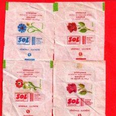 Sobres de azúcar de colección: CUATRO SOBRES DE AZUCAR SOL . Lote 27853468