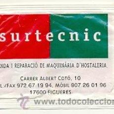 Sobres de azúcar de colección: 25-921. SOBRE AZUCAR. CAFÉ SOLEY. REVERSO SURTECNIC (FIGUERES). Lote 29052632
