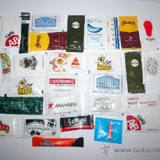 Sobres de azúcar de colección: LOTE DE 27 SOBRES DE AZUCAR VARIADOS - LOTE 2. Lote 29494716