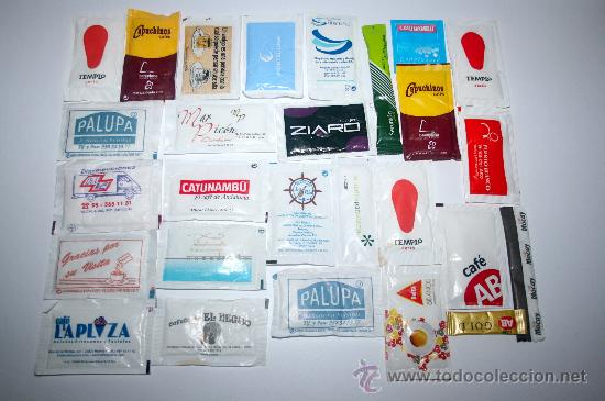 LOTE DE 27 SOBRES DE AZUCAR VARIADOS - LOTE 3 (Coleccionismos - Sobres de Azúcar)