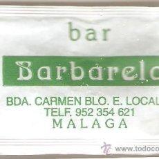 Sobres de azúcar de colección: SOBRE DE AZUCAR BAR BARBARELA. Lote 33002141