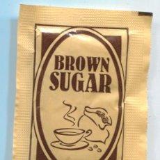 Sobres de azúcar de colección: SOBRE DE AZUCAR DE BULGARIS - AZUCARILLO - BROWN SUGAR - CON AZUCAR. Lote 33712655