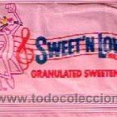 Sobres de azúcar de colección: SOBRE DE EDULCORANTE SWEET´N LOW EDICIÓN ESPECIAL PINK PANTER (PANTERA ROSA). Lote 36771181