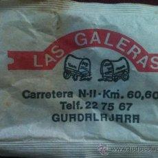 Sobres de azúcar de colección: SOBRE DE AZÚCAR DE LAS GALERAS, GUADALAJARA J.S.P.S.A., 10 GR., AÑOS 80. Lote 36832341