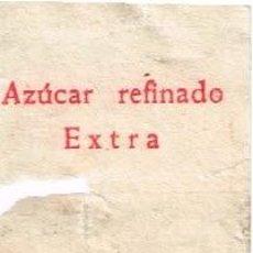 Sobres de azúcar de colección: ENVOLTORIO DE AZÚCAR DE TERRÓN DEL BAR FRAU DE SORO-ALICANTE, AÑOS 60 RESTAURADO. Lote 36835037