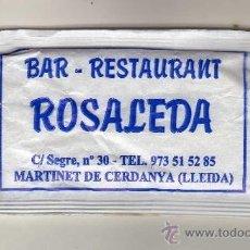 Sobres de azúcar de colección: SOBRE DE AZÚCAR BLANCO · BAR - RESTAURANT ROSALEDA (MARTINET DE CERDANYA, LLEIDA). Lote 38901552