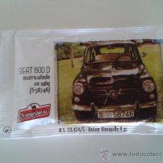 Sobres de azúcar de colección: SEAT 600 MATRICULADO EN 1969 (DROMEDARIO) Nº 6. Lote 39203049