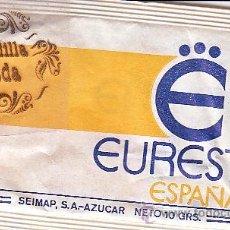 Sachets de sucre de collection: SOBRES DE AZUCAR - EUREST - 10 GR. ENVASADO SEIMAP, SA - MODELO 3. Lote 46957940