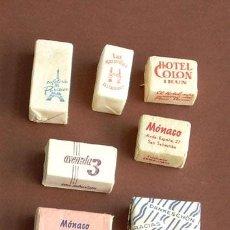 Sobres de azúcar de colección: AZUCARILLO, TERRÓN , 7 TERRONES DE AZUCAR DE ÉPOCA. Lote 40174333