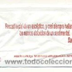 Sobres de azúcar de colección: 25-1117. SOBRE DE AZUCAR. FRASE. RASCAD LA PIEL DE UN ESCEPTICO. Lote 43448397