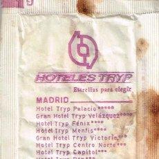 Sobres de azúcar de colección: SOBRE DE AZUCAR DE HOTELES TRYP, AÑOS 80. Lote 47081749