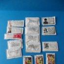 Sobres de azúcar de colección: LOTE DE 15 SOBRES DE AZÚCAR - CON FRASES DE PERSONAJES CELEBRES . Lote 48923550
