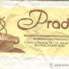 Pacotes de Açúcar de coleção: SOBRE DE AZÚCAR VACÍO - PRADO - BOLAÑOS (CIUDAD REAL). Lote 50032072