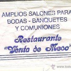 Pacotes de Açúcar de coleção: SOBRE DE AZÚCAR VACÍO - RESTAURANTE VENTA DE MECO - MECO (MADRID). Lote 50032171