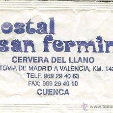 Pacotes de Açúcar de coleção: SOBRE DE AZÚCAR VACÍO - HOSTAL SAN FERMÍN - CERVERA DEL LLANO (CUENCA) - CAFÉ 154. Lote 50032899