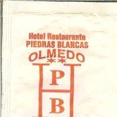 Pacotes de Açúcar de coleção: SOBRE DE AZÚCAR VACÍO - HOTEL RTE. PIEDRAS BLANCAS - OLMEDO (VALLADOLID) - CAFÉS TARRERO. Lote 50033114